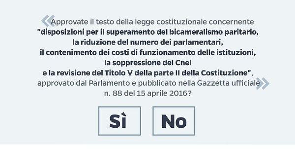 Referendum costituzionale: eh Sì.